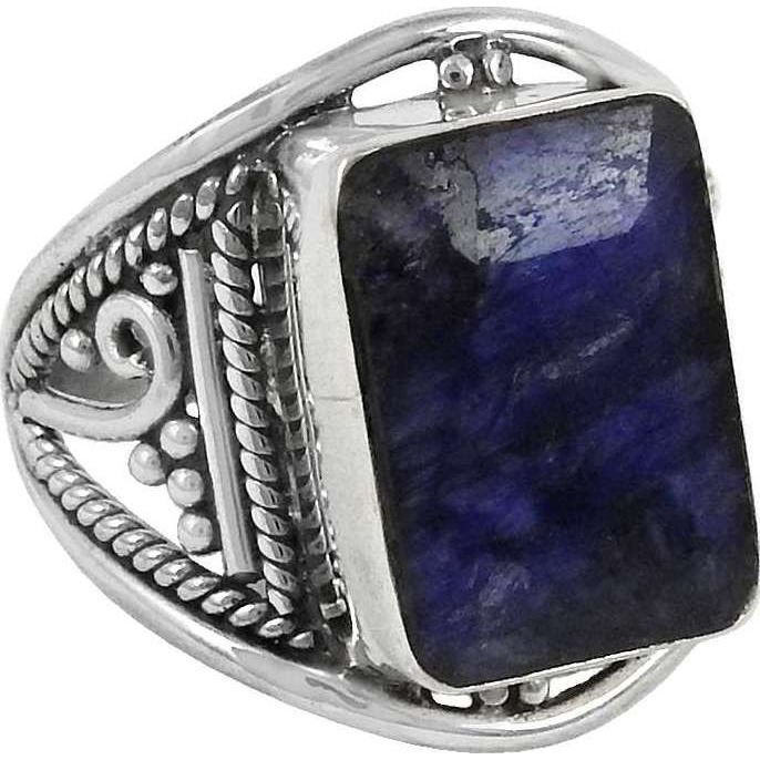 Exclusive!! 925 Sterling Silver Blue Sapphire Ring