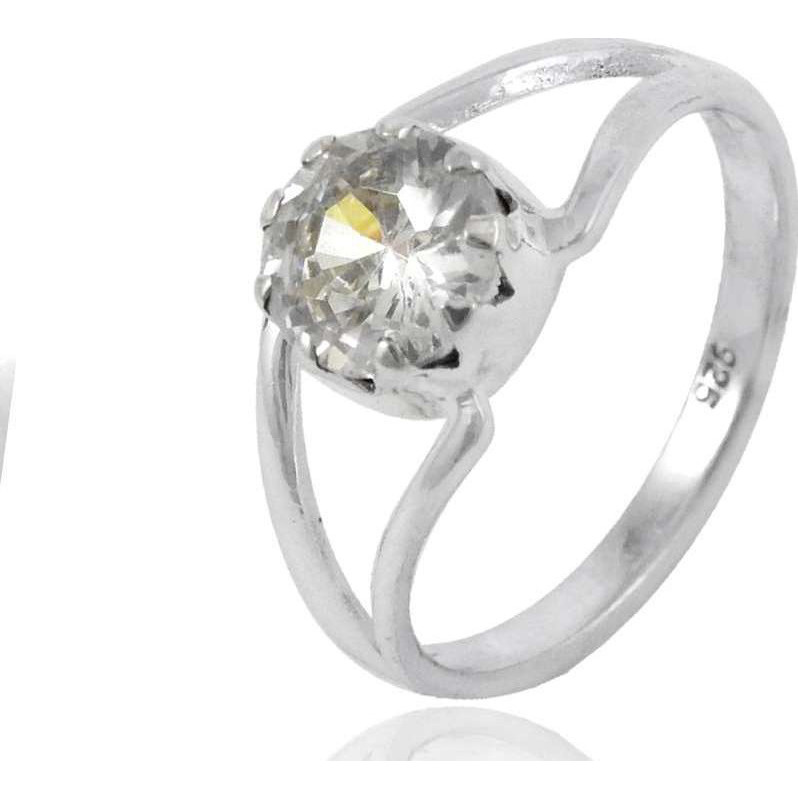 Island Fantasy! 925 Silver White CZ Ring
