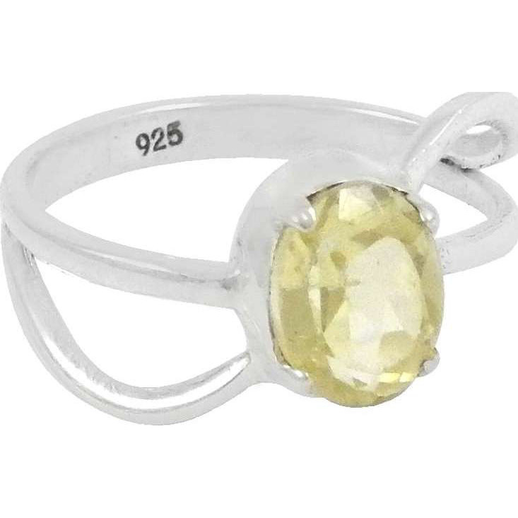 Jumbo Fantastic!! 925 Sterling Silver Lemon Topaz Ring