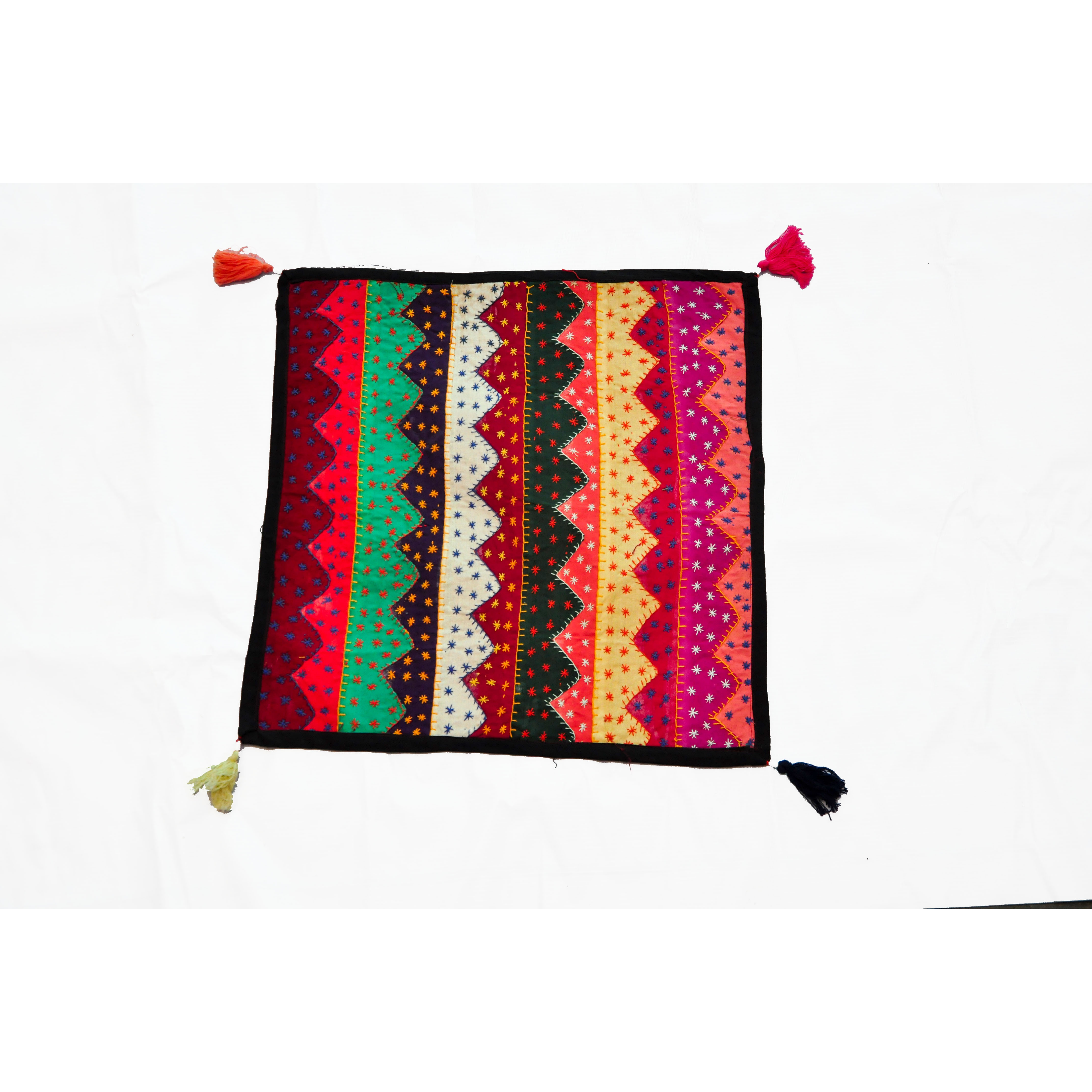 CMD-Hand Embroidered Cushion Cover(multi colour)