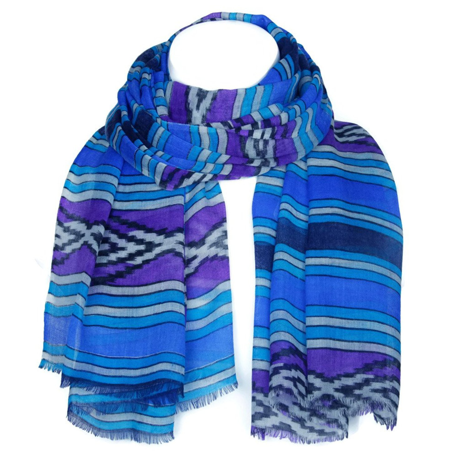 Women's Wool Scarf Girls Ladies Long Shawls Wraps Scarves Stoles Kashmir KASHFAB