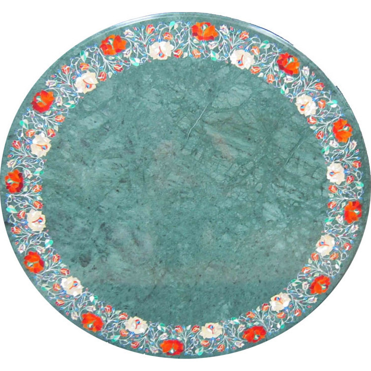 Green Marble Table Top