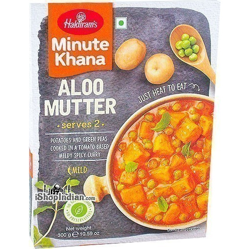 Haldiram's Aloo Mutter - Minute Khana (Ready-to-Eat)
