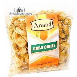 Anand Curd Chilly (Vathals-More Milagai) (3.5 oz bag)
