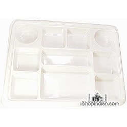 Party Plate (Thali) - Square - 50 Pack