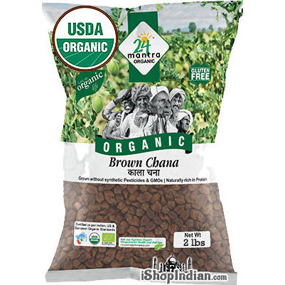 24 Mantra Organic Kala Chana / Brown Chickpeas - 2 lbs