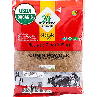 24 Mantra Organic Cumin Powder - 7 oz (7 oz bag)