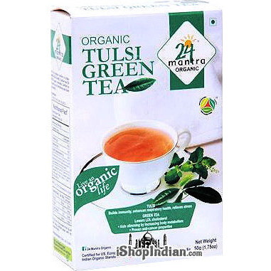24 Mantra Organic Tulsi Green Tea