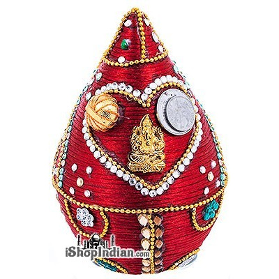 Pooja Coconut - Decorated (Various Designs)