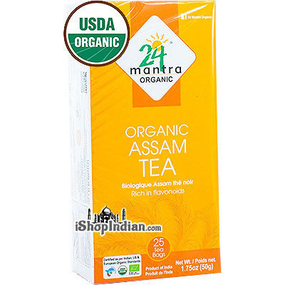 24 Mantra Organic Assam Tea Bags - 25 CT (25 Tea bags)