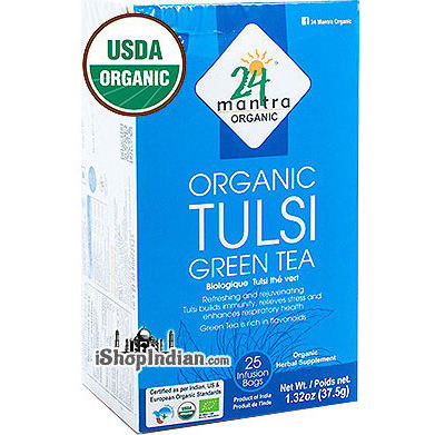 24 Mantra Organic Tulsi Green Tea Bags - 25 CT