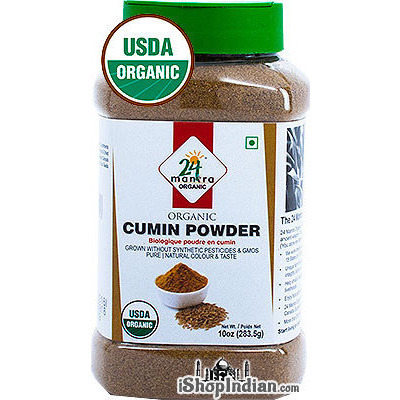 24 Mantra Organic Cumin Powder - 10 oz jar