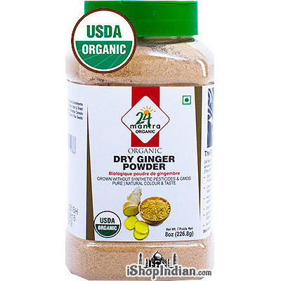 24 Mantra Organic Ginger Powder - 8 oz jar (8 oz jar)