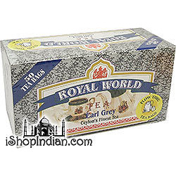 Royal World Ceylon's Finest Earl Grey Tea Bags - 50 bags (50 tea bags)