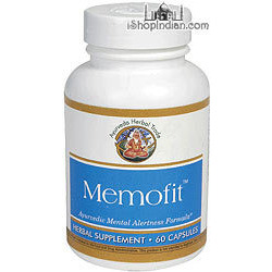 Memofit - Mental Alertness (Ayurveda Herbal Trade) - 60 Capsules