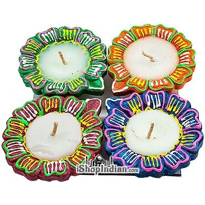 Flower Diya - 4 Pack (#51)