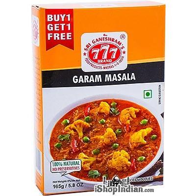 777 Garam Masala Powder - BUY 1 GET 1 FREE! (5.8 oz box)