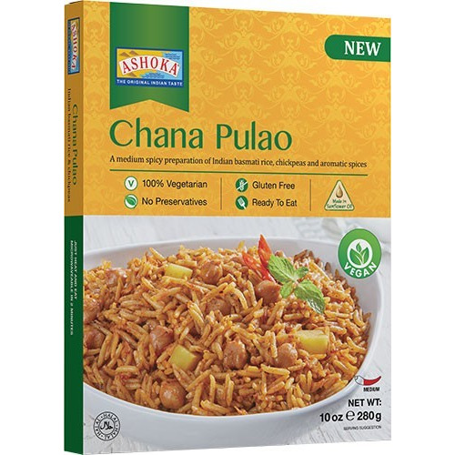 Ashoka Chana Pulao (Vegan) (Ready-to-Eat) - BUY 1 GET 1 FREE! (10 oz box)