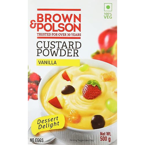 Brown & Polson Custard Powder - Vanilla - 500 gms (500 gm box)