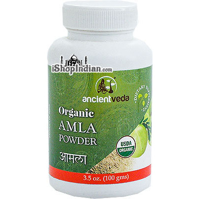 Ancient Veda Organic Amla Powder (3.5 oz bottle)