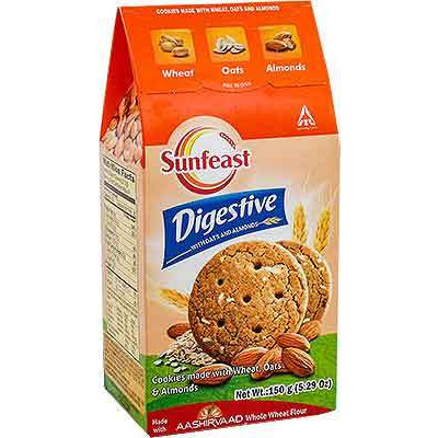 Sunfeast Digestive With Oats and Almonds (5.29 oz box)