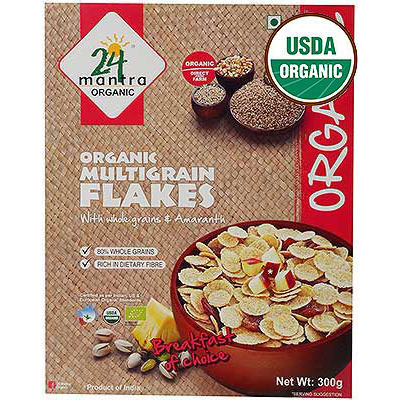 24 Mantra Organic Multigrain Flakes with Amaranth - Breakfast Cereal