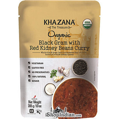 Khazana Organic Black Gram With Red Kidney Beans Curry (Ready-to-Eat)