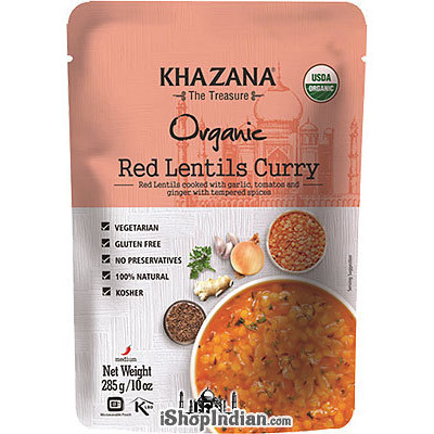 Khazana Organic Red Lentils Curry (Ready-to-Eat)