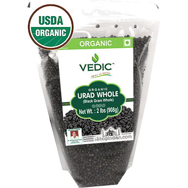 Vedic Organic Urad Whole (Black Gram Whole)