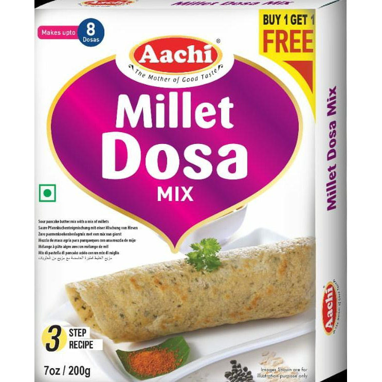 Aachi Millet Dosa Mix - 200 Gm [Buy 1 Get 1 Free]