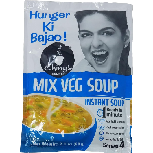 Ching's Instant Mix Vegetable Soup (Family Pack) - 60 Gm