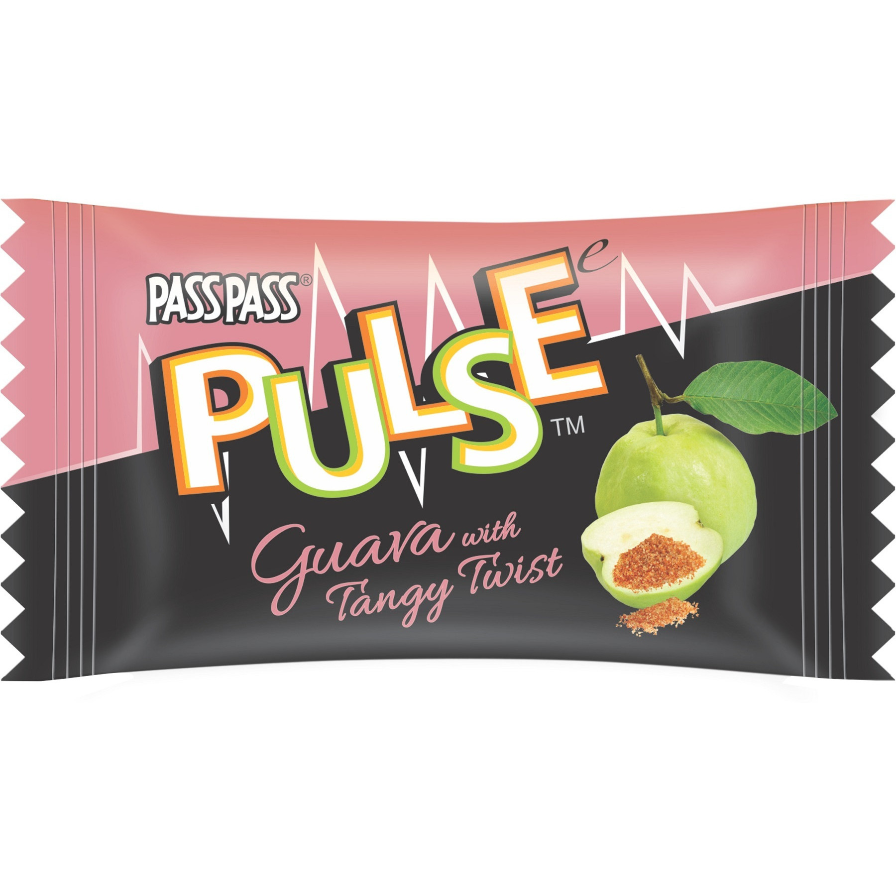 Pass Pass Pulse Raw Guava Candy - 25 Pcs