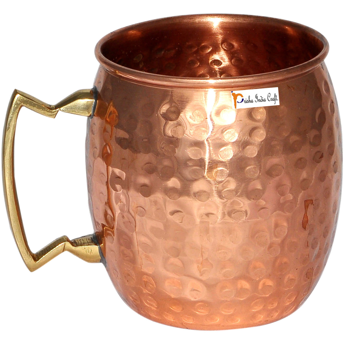 HANDMADE IN INDIA NEW 18oz SET OF 12 100/% COPPER HAMMERED MOSCOW MULE MUG