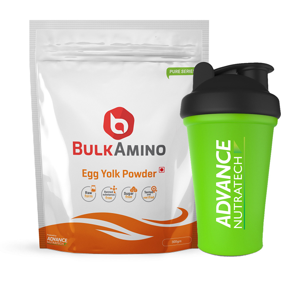 Advance Nutratech BulkAmino Egg Yolk Powder 300gram Unflavored with Shaker