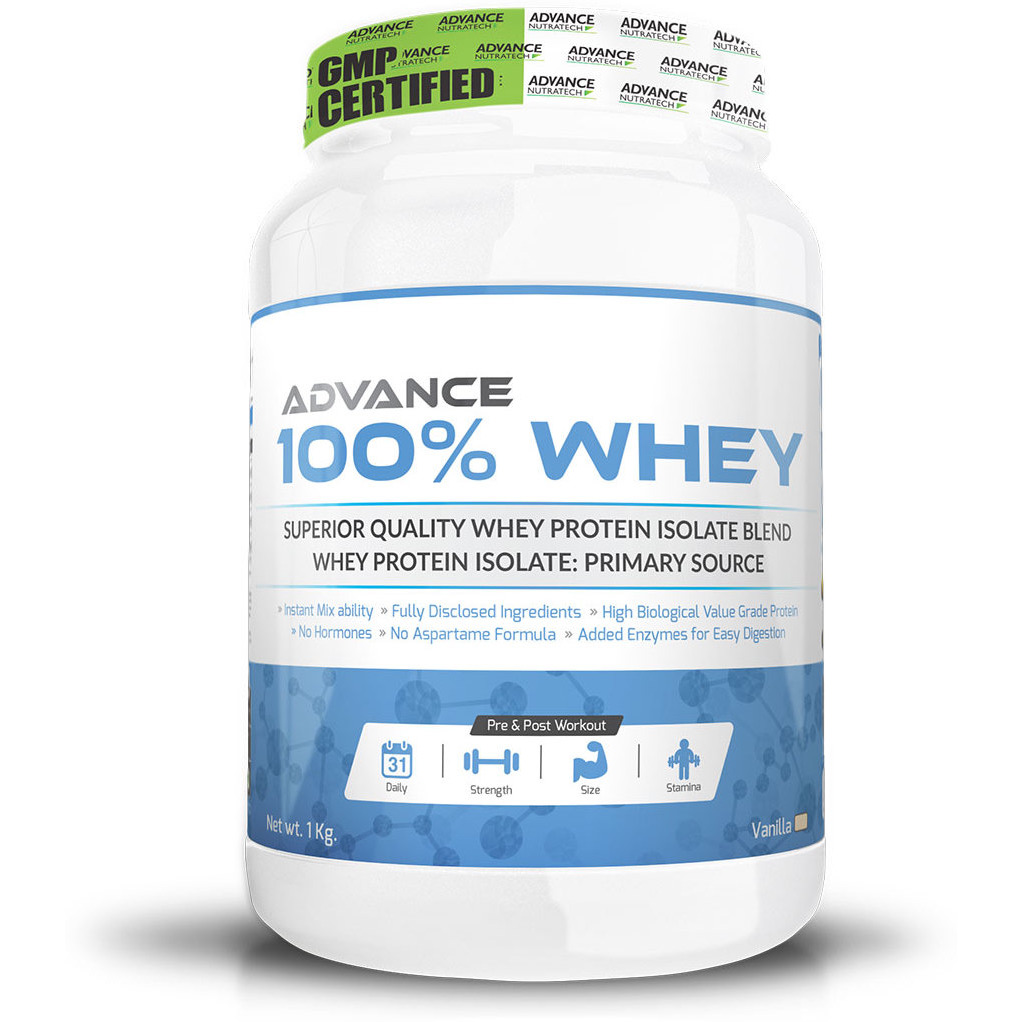 Advance Nutratech 100% Whey - Vanilla - 1kg