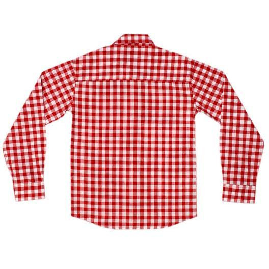 Always Kids Boys Red Gingham Full Sleeves Shirt (Size:5Y)