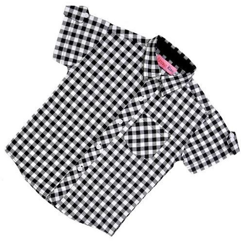 Always Kids Black Gingham Boys Half Sleeves Shirt (Size:1Y)