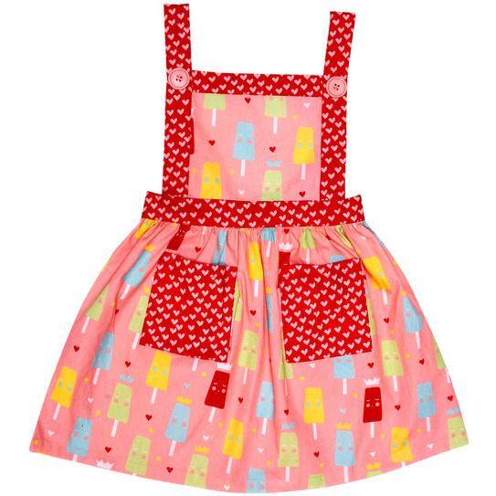 Always Kids' Pink ice-cream lily Printed Dress (Size:0Y)
