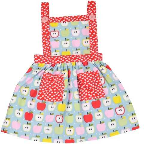 Always Kids' Blue Apple Lily Printed Dress (Size:6M)