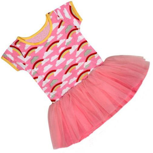Always Kids' Pink Rainbow Claudia Dress (Size:2Y)