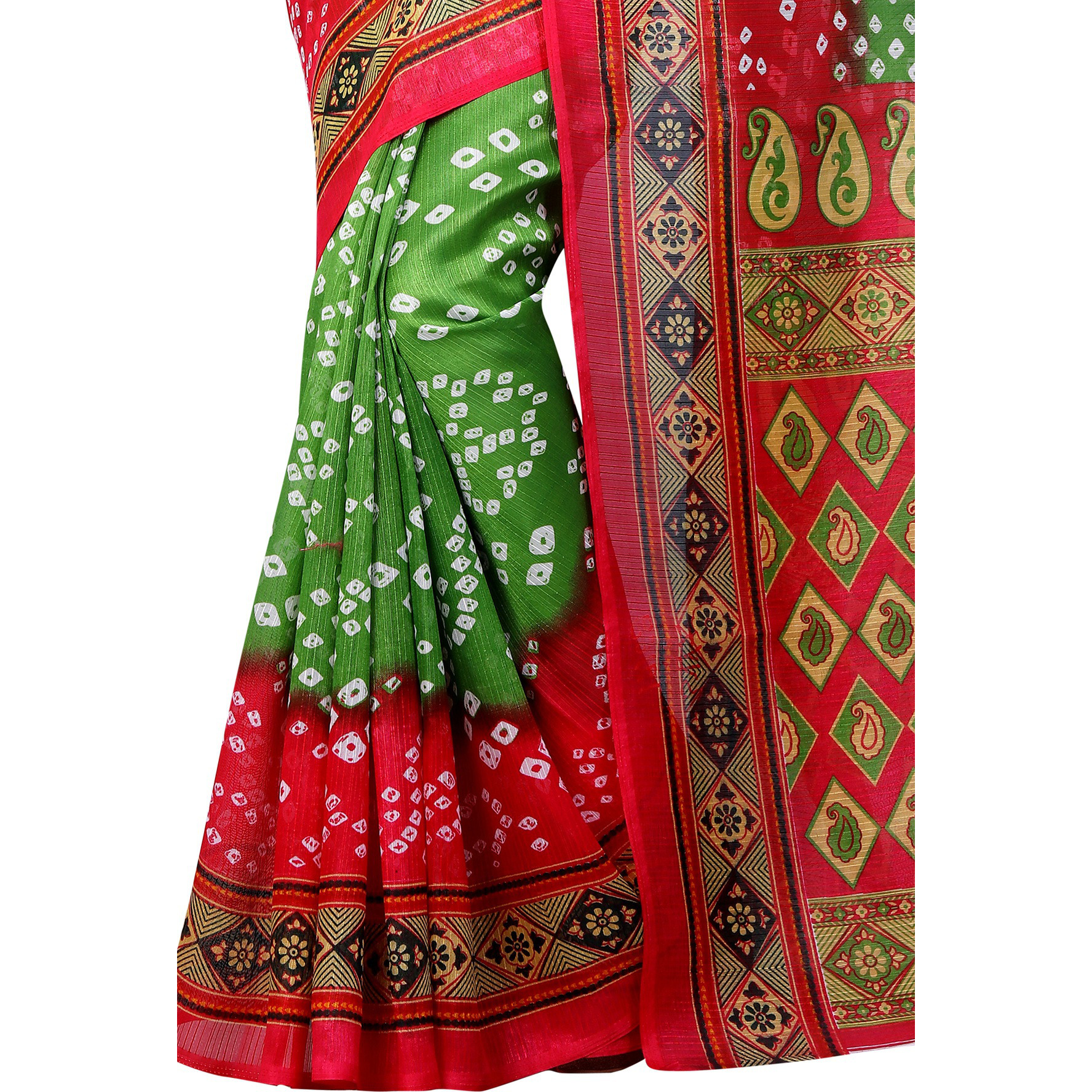 Mastani Bhagalpuri Silk Bandhani Saree For Womens