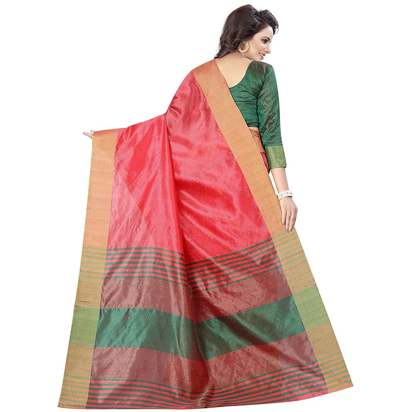 Mastani Pink Cotton  Sarees For Womens
