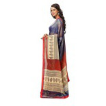 Indian Ethnic Blue Color Printed  Faux Georgette Casual Wear  Saree