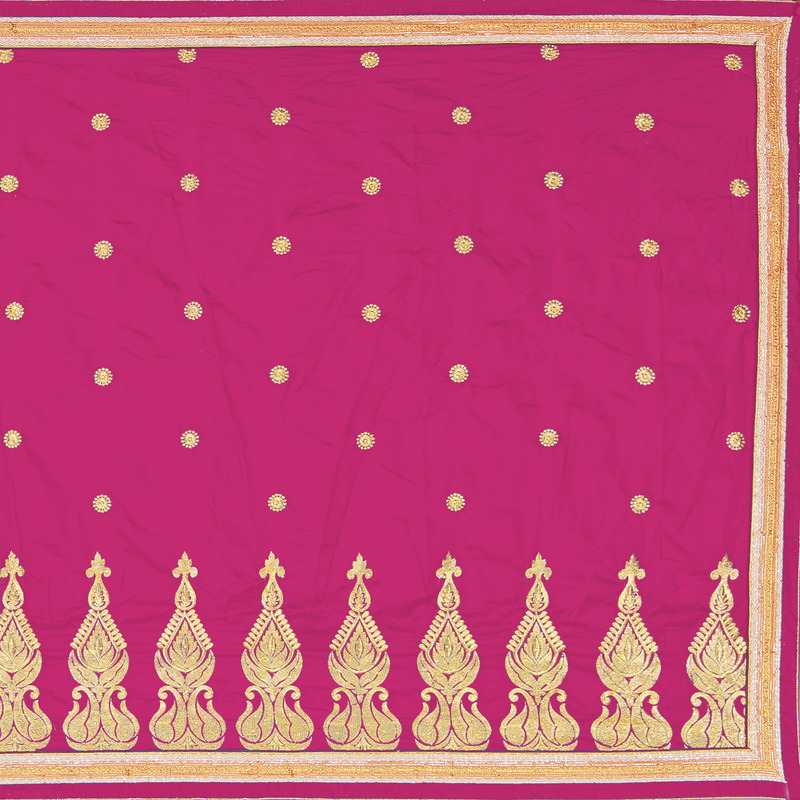Indian Ethnic Pink Color Embroidered Crape Party Wear  Saree