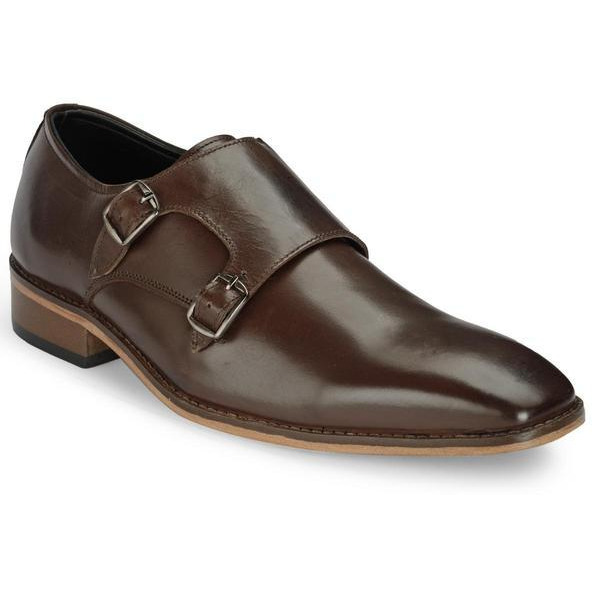Teakwood Leather Brown Formal Shoes (Size:44)