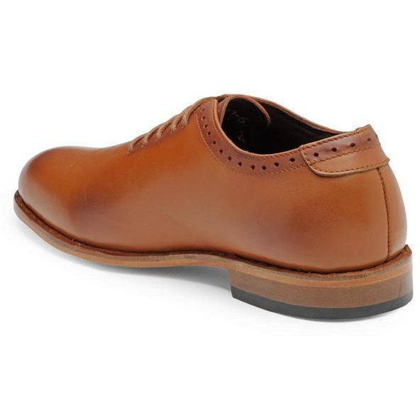 Teakwood Leather Tan Oxford Shoes