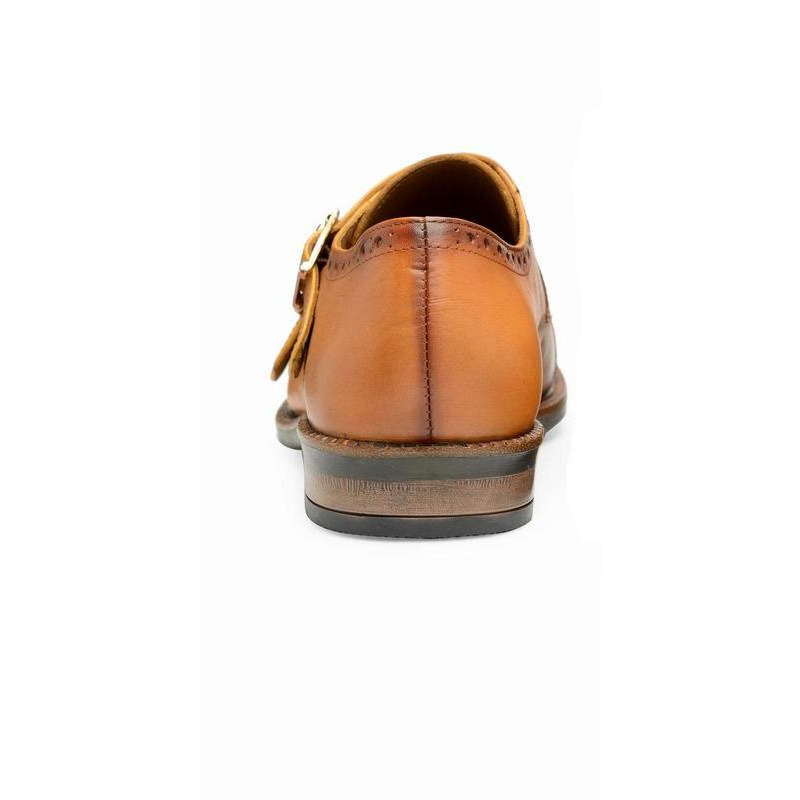 Teakwood Leather Tan Formal Shoes (Size:43)
