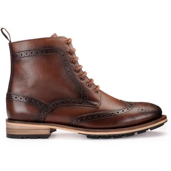 Teakwood Leather Brown  Boots (Size:43)