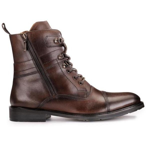 Teakwood Leather Brown Boots (Size:42)