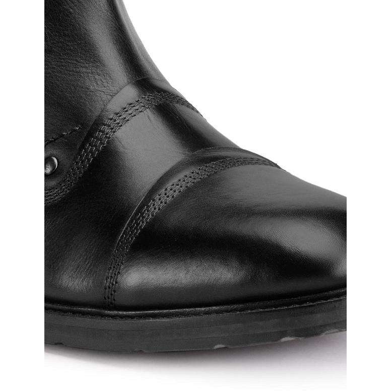 Teakwood Leather Black Boots (Size:44)